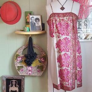Laundry Floral Silk Slip Dress